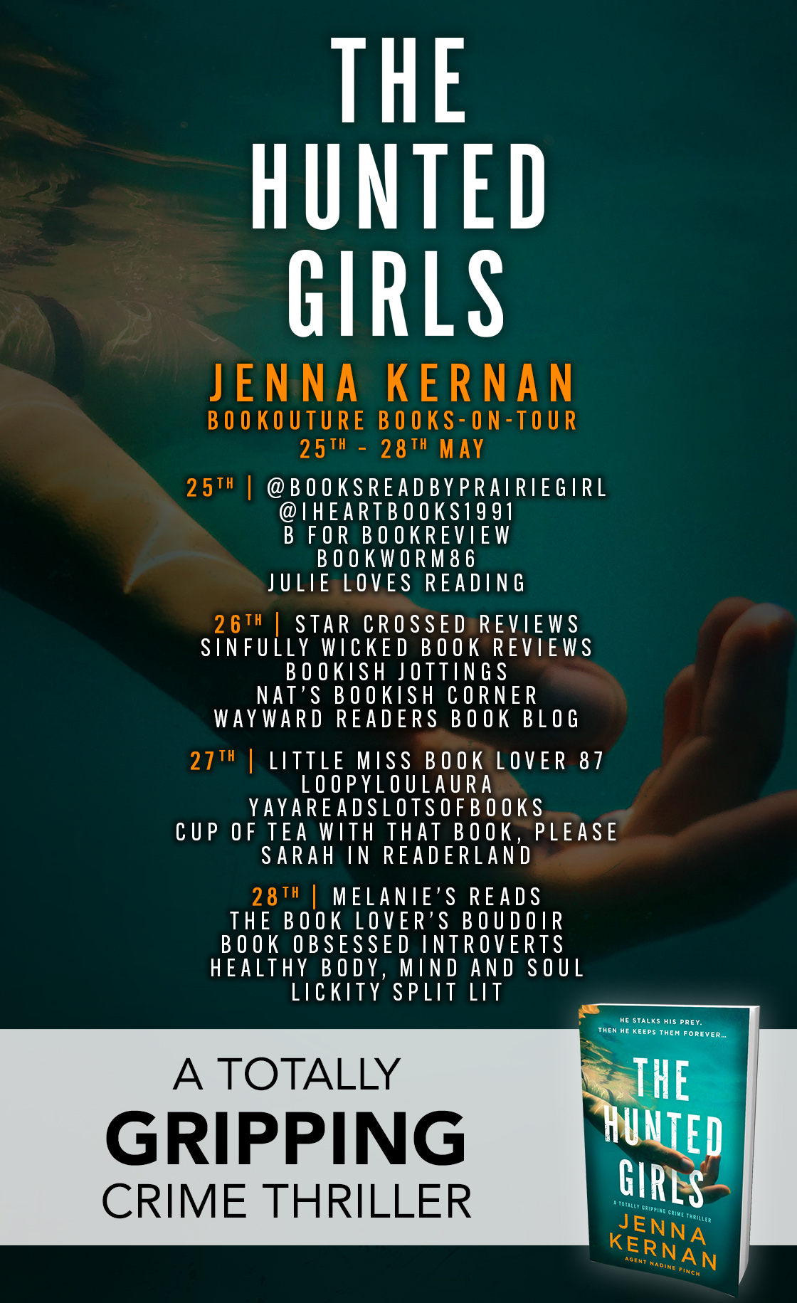The Hunted Girls blog tour banner