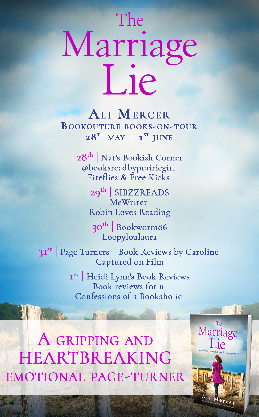 The Marriage Lie blog tour banner