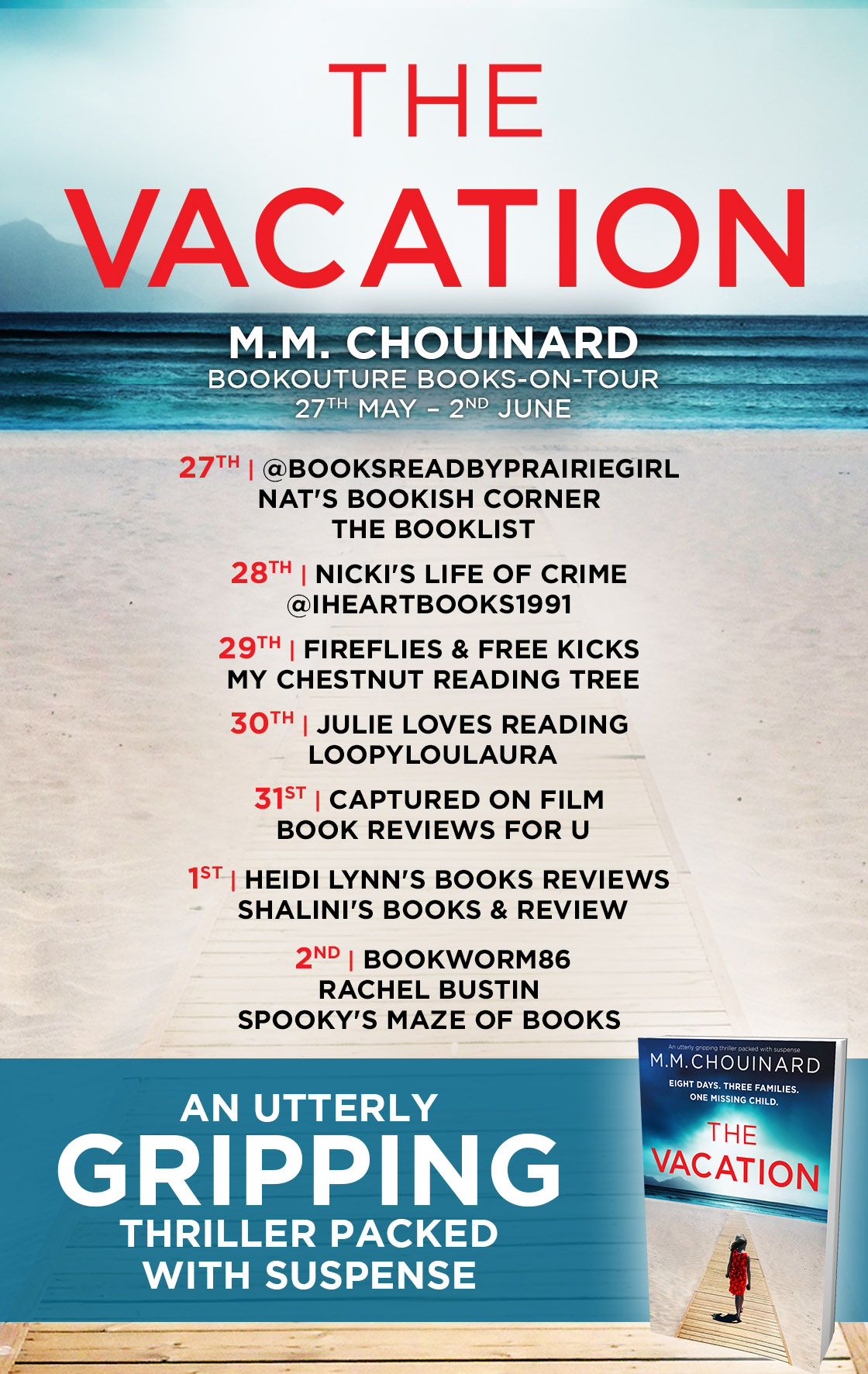 The Vacation blog tour banner