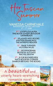 Her Tuscan Summer blog tour banner