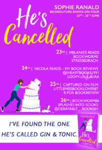 He's Cancelled blog tour banner