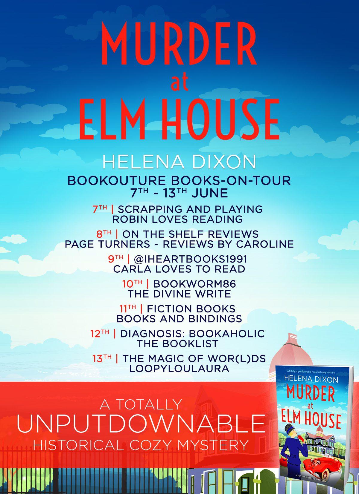 Murder at Elm House blog tour banner