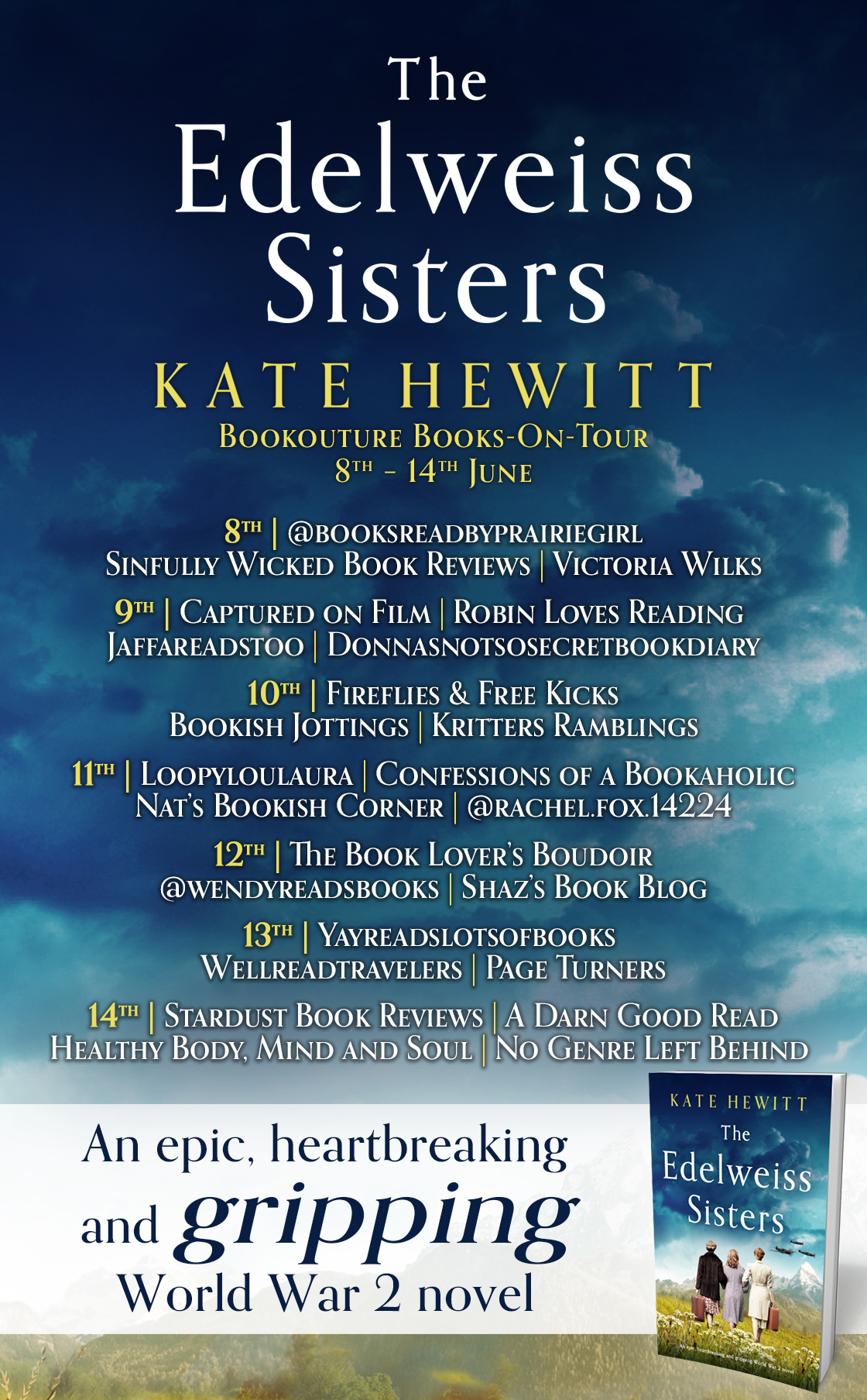 The Edelweiss Sisters blog tour banner