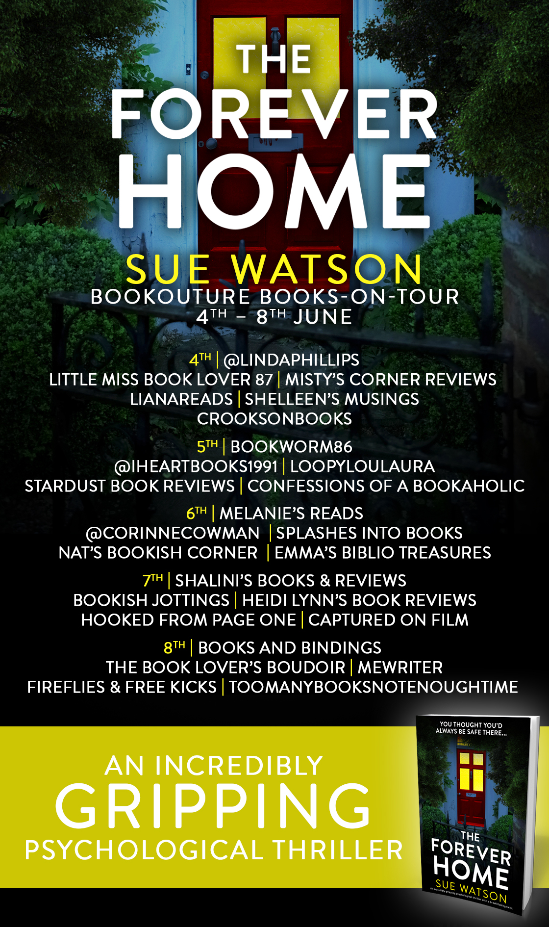The Forever Home blog tour banner