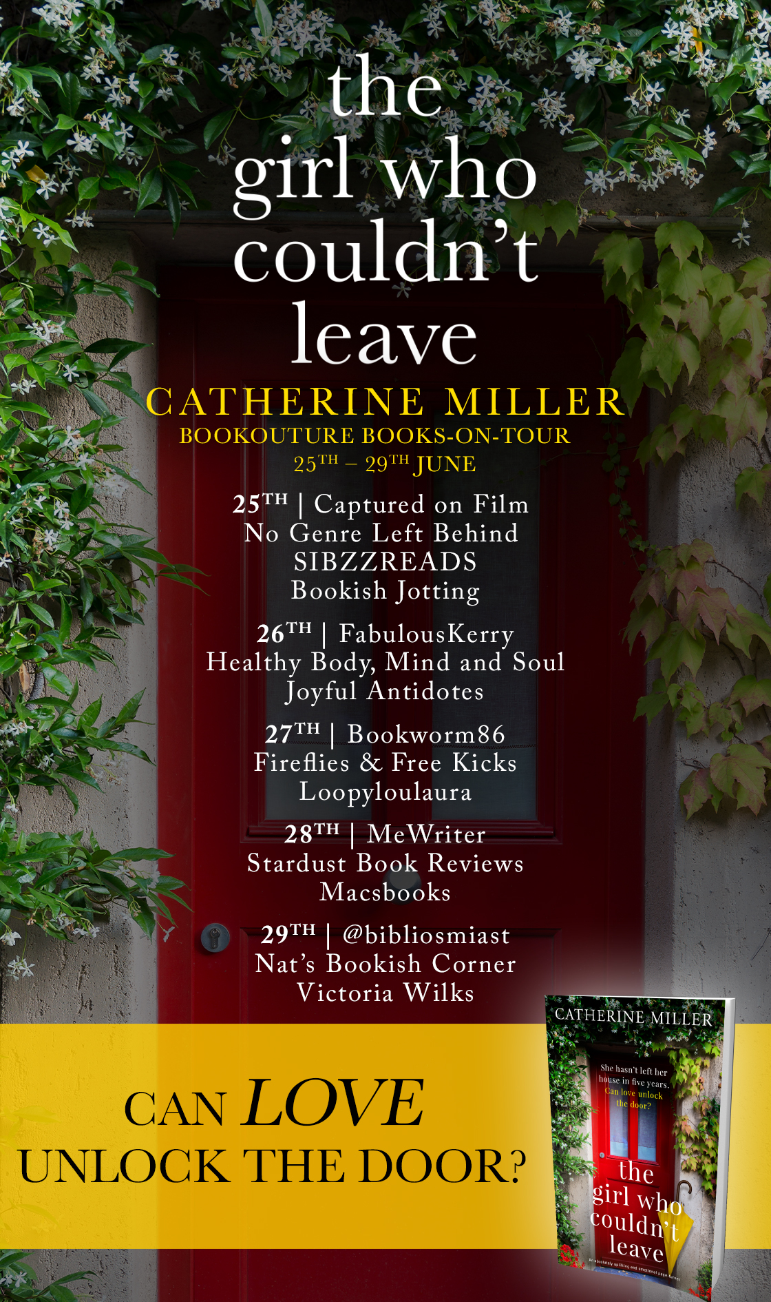 The Girl Who Couldn't Leave blog tour banner