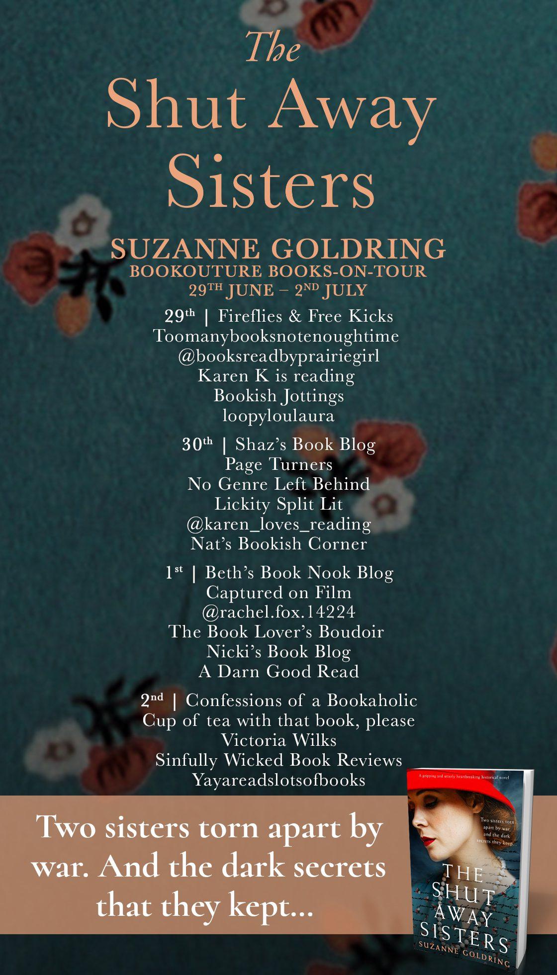 The Shut Away Sisters blog tour banner