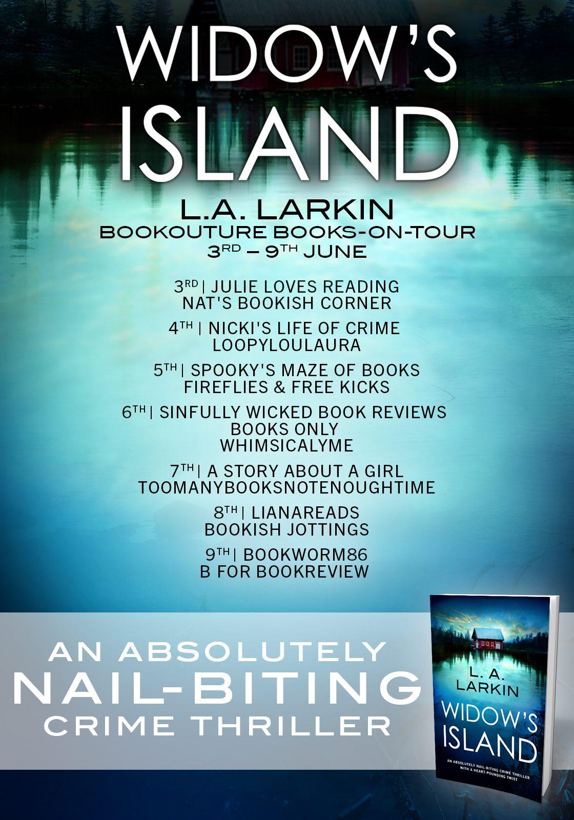 Widow's Island blog tour banner
