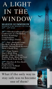 A Light in the Window blog tour banner