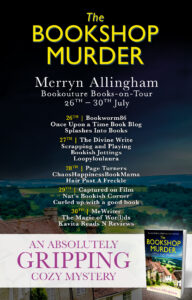 The Bookshop Murder blog tour banner