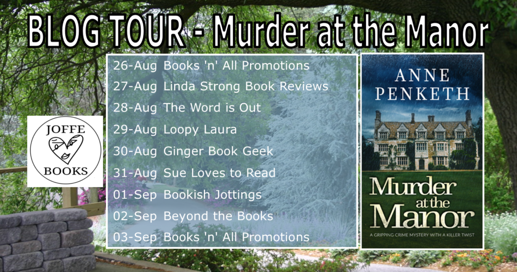 Murder at the Manor blog tour banner
