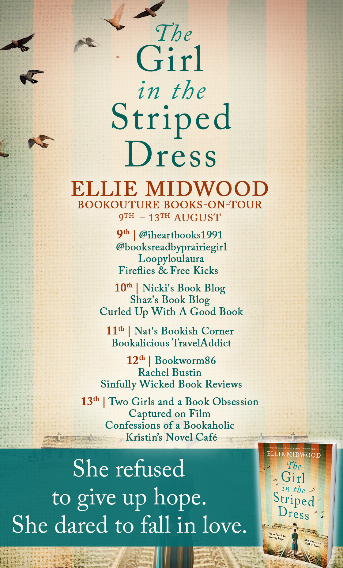 The Girl in the Striped Dress blog tour banner