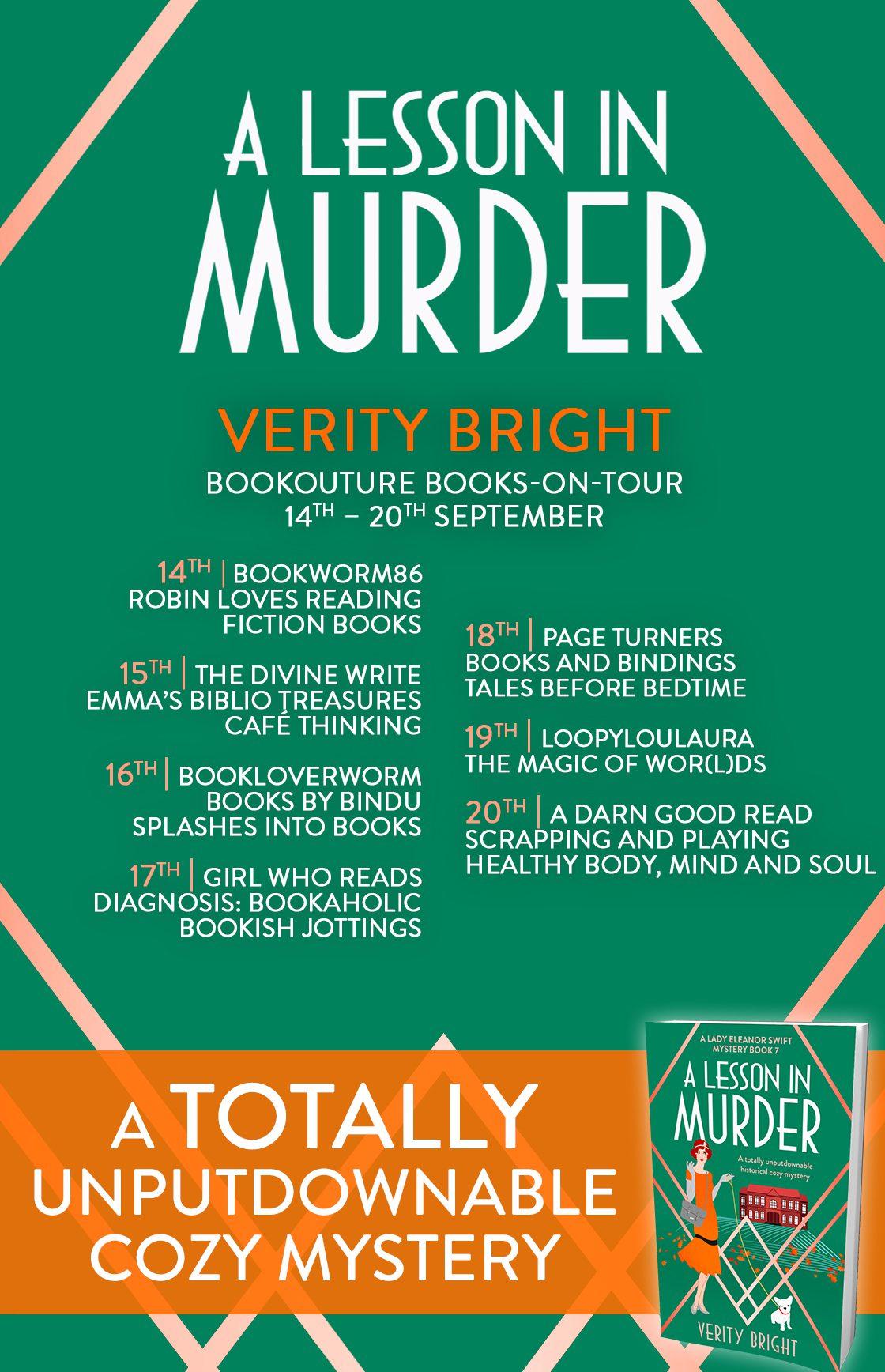 A Lesson In Murder blog tour banner