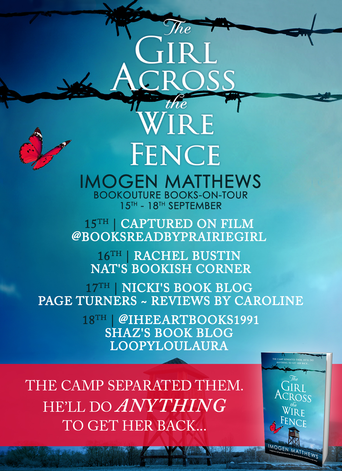The Girl Across The Wire Fence blog tour banner