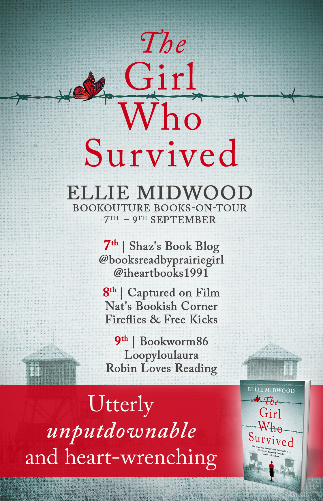 The Girl Who Survived blog tour banner