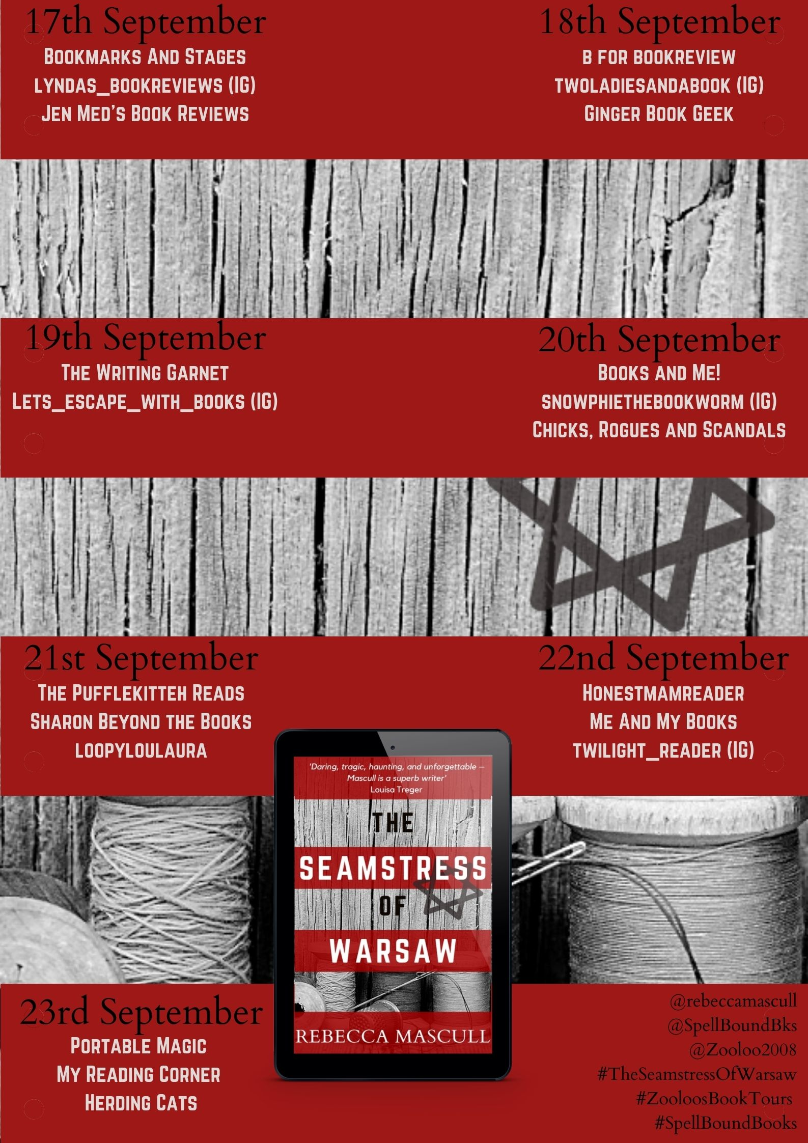The Seamstress of Warsaw blog tour banner