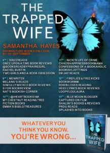 The Trapped Wife blog tour banner