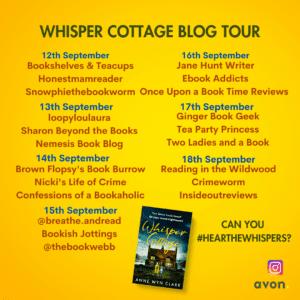 Whisper Cottage blog tour banner