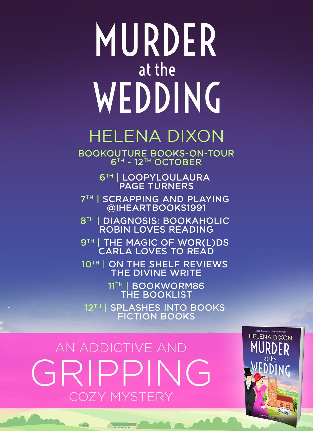 Murder at the Wedding blog tour banner